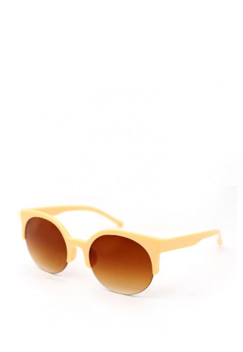 Peculiar and Odd orange Round Clubmaster 8285 Classic Gradient Sunglass 67D9CGLD3D246EGS_1