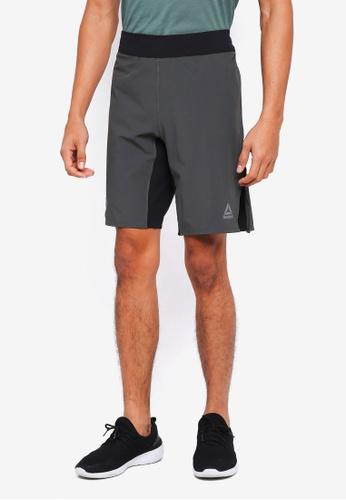 Reebok grey Studio Les Mills Shorts A95F8AA42C7B8BGS_1