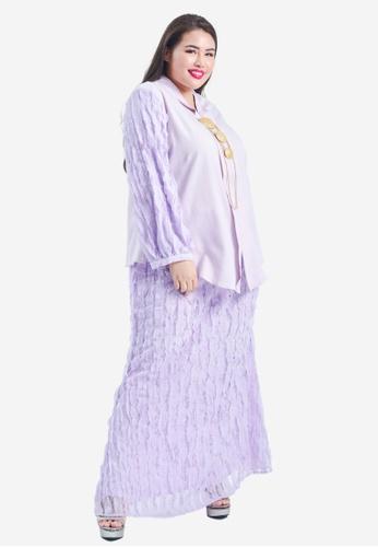 CURVA FABULOUS purple Zabedah 3D Lace Kebaya Kurung EAED3AA15A6F03GS_1