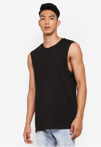 Cotton On black Essential Muscle T-shirt 58676AA9F64DF1GS_1