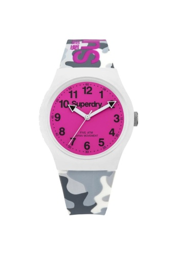 Superdry white Superdry Urban SYG164EP Resin Watch E27DBACCA7192CGS_1