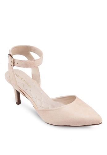 Galileezalora 台灣門市 尖頭繞踝高跟鞋, 女鞋, 中跟