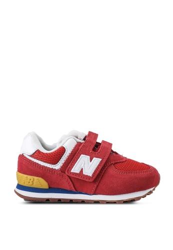 New Balance red 574 Infant Lifestyle Shoes 69C91KS1B2CF2FGS_1