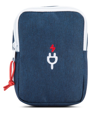 Bagstationz blue Travel Gadget/Power Bank Pouch BA607AC81LQWMY_1