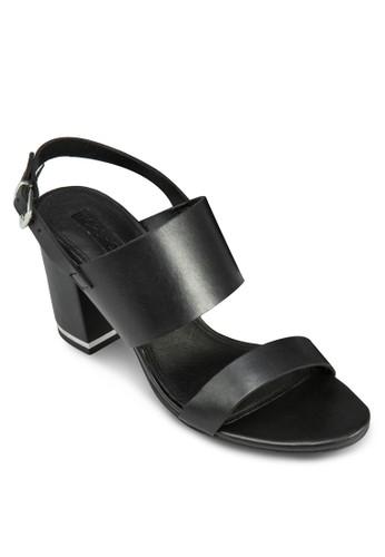 Raffy 雙帶繞踝粗跟涼鞋、 女鞋、 中跟TOPSHOPRaffy雙帶繞踝粗跟涼鞋最新折價