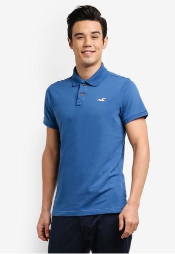 Hollister blue Stretch Core Polo Shirt HO422AA0RCQUMY_1
