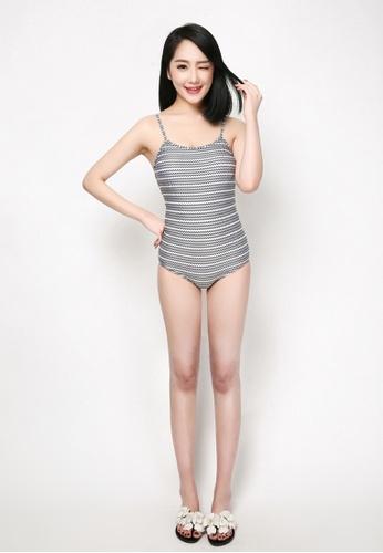 hk-ehunter multi Wave Pattern Swimsuit 586BEUS04CB260GS_1