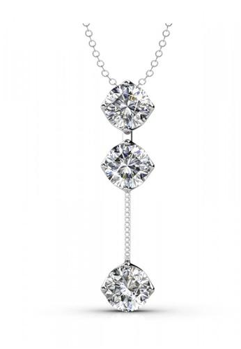 Her Jewellery silver Swarovski® Zirconia - Dazzling Pendant (18K White Gold Plated) Her Jewellery HE581AC0RE68MY_1