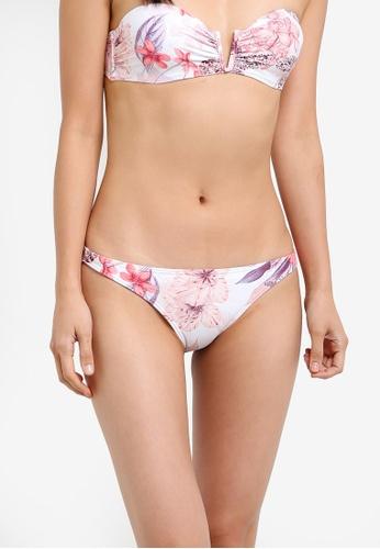 Billabong white Lost Lily Tropic Pant Bikini Bottom BI783US0S993MY_1