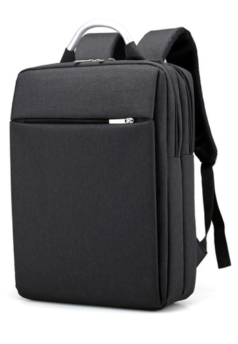 b686204cee2b Jackbox black Korean Premium Stylish Professional Business Laptop Backpack  527 (Black) JA762AC0S97AMY 1