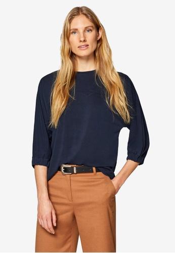 ESPRIT navy Long Sleeve T-Shirt E8977AA4BE3093GS_1