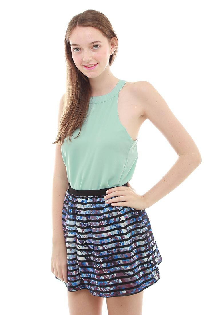 Rosella Leline Style Rainbow Skirt Blue xwv0HwBq