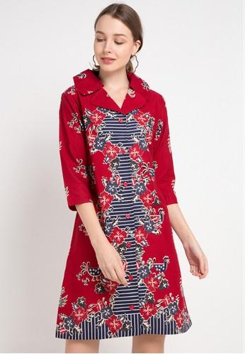 Le Viel Batik red and multi Danita Minidress 3F7F7AAE7EA232GS_1