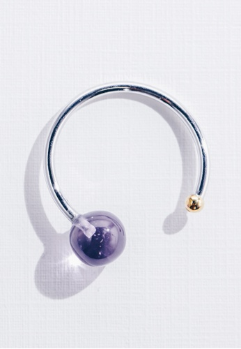 Paradeisos Jewellery purple and silver and gold Galaxy Natural Amethyst Ring PA467AC0GHUBSG_1