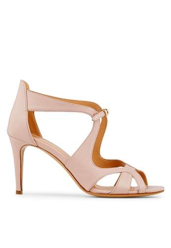 Minelli pink F93 047 Nappa Leather Cut-out Heels - Maita MI352SH0FJDJSG_1