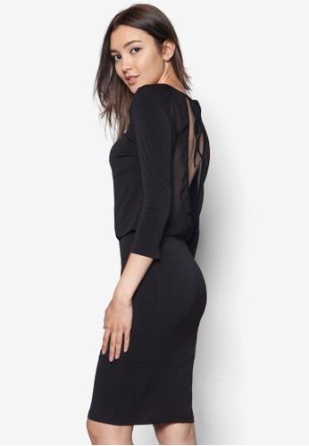 鏤空露背繫帶zalora時尚購物網的koumi koumi連身裙, 服飾, 洋裝
