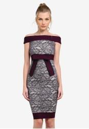 Vesper grey Lilianna Bardot Lace Pencil Dress VE733AA0S795MY_1