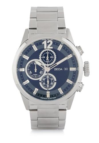ZECA silver Zeca Watches Men Fashion Stainless Steel Analog - 2010MA Silver Black ZE074AC0WDAXID_1
