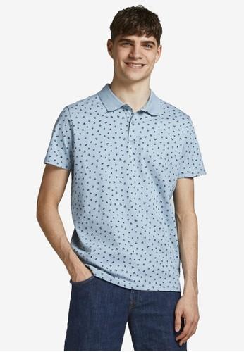 Jack & Jones blue All Over Printed Polo Shirt B7475AA2A9788FGS_1