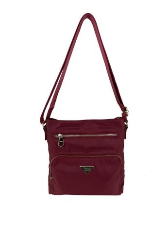 Mel&Co red Nylon Sling Bag CAD9BACAD3DC63GS_1