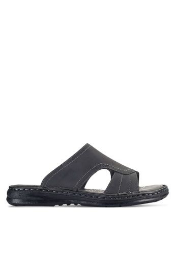 Louis Cuppers black Casual Sandals LO977SH93VPAMY_1