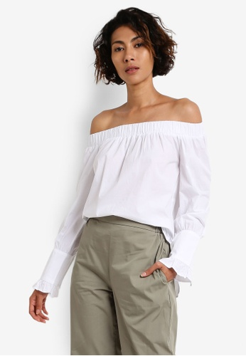 Mango white Off-Shoulder Blouse MA193AA0RBX1MY_1