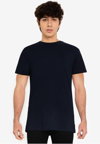 Springfield navy Basic T-Shirt 9E544AAC8B0031GS_1