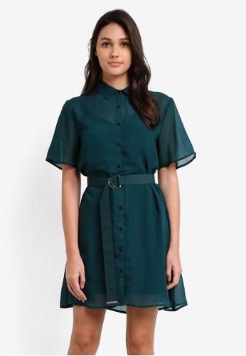 Something Borrowed green 2 In 1 Chiffon Shirt Dress D731DAAB60822CGS_1