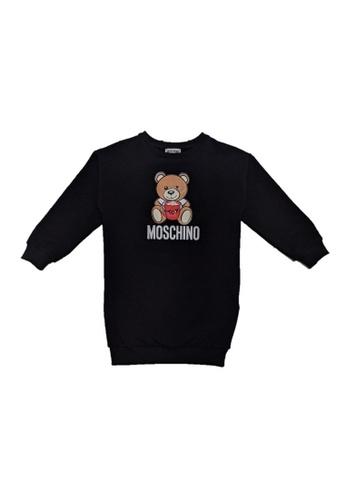 MOSCHINO BABY KID TEEN black MOSCHINO GIRLS DRESS 19234KA111ECF8GS_1