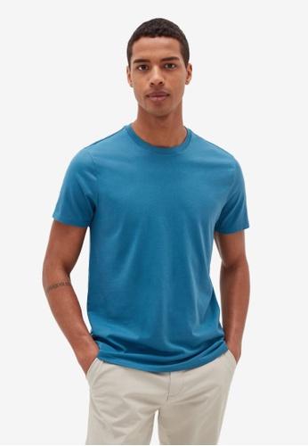 OVS blue Cotton T-Shirt 74DF5AAED09991GS_1