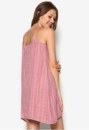 格紋細肩帶連esprit outlet 旺角身裙, 服飾, 夏日洋裝