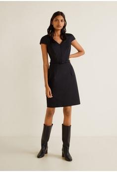 cde841e9e34 27% OFF Mango Belt Cotton Dress RM 177.90 NOW RM 129.00 Sizes XS S M L XL