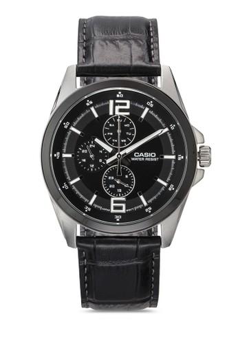 標準行針男士皮革手錶, 錶類, 飾品配esprit台灣outlet件