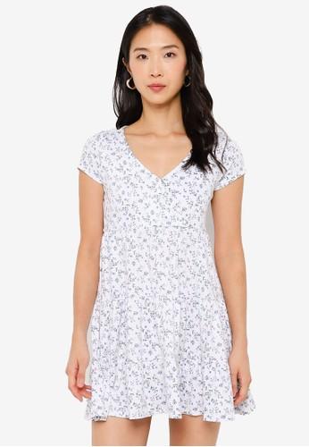 Hollister white Short Sleeve Dress ED707AA9C82E8CGS_1