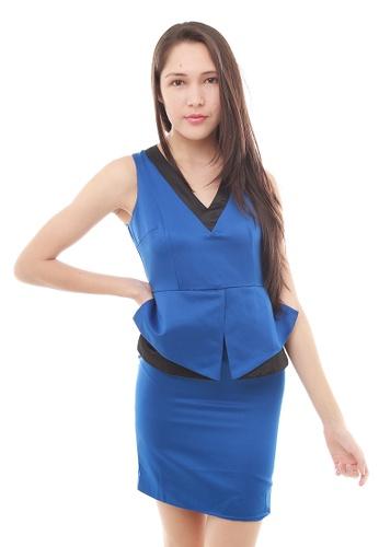 Leline Style blue Cara OL Dress LE802AA57ECWSG_1