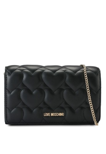 Love Moschino black Heart Quilted Crossbody Bag B0788AC5B8AE76GS_1