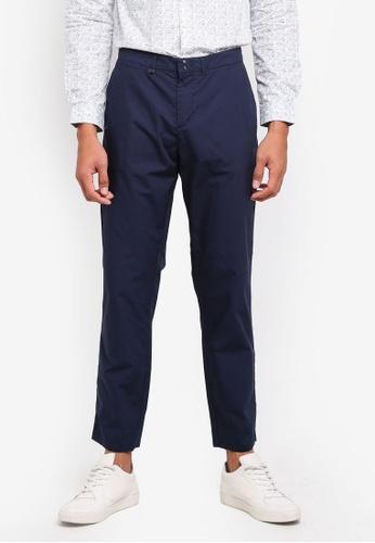 Sisley 藍色 素面五口袋休閒長褲 A57DAAAF3CB614GS_1