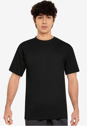 RAGEBLUE black Plain T-Shirt FCEB8AA52EA2FDGS_1