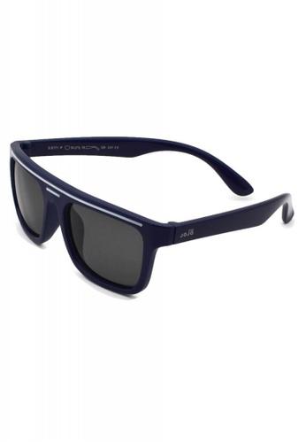 jojo blue White Details on Frame Rectangular Polarized Sunglasses FC18FKC4A891BBGS_1