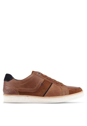 KG Kurt Geiger brown Sawyer Tan Sneakers KG303SH0SCLFMY_1