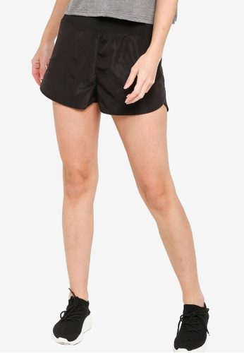 ZALORA ACTIVE black Back Pocket Running Shorts 1CD7CAAEFED18FGS_1