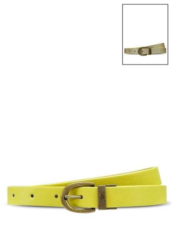 niko and ... yellow Reversible Slim Belt CF985ACB10834AGS_1