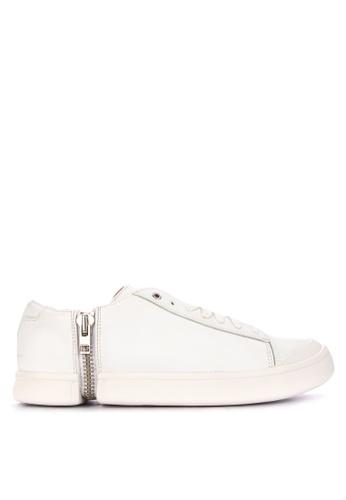 Diesel white Zip Round S Nentish Low Sneakers 0E2C0SH444375EGS_1