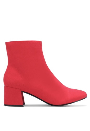 Miss Selfridge red Delilah Faux Suede Ankle Boots MI665SH0S2LGMY_1