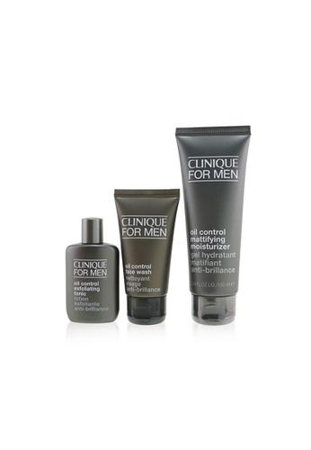 Clinique CLINIQUE - Great Skin For Men Oil Control 3-Pieces Set : Face Wash 50ml +  Exfoliating Tonic 30ml + Mattifying Moisturizer 100ml 3pcs B65B1BE69BD3E7GS_1