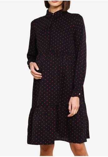 Mama.licious navy Maternity Xinia Long Sleeves Shirt Dress C6679AAAAEC974GS_1