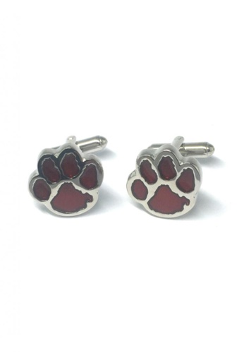 Splice Cufflinks red and silver Red Bear Paws Cufflinks   SP744AC74DSVSG_1