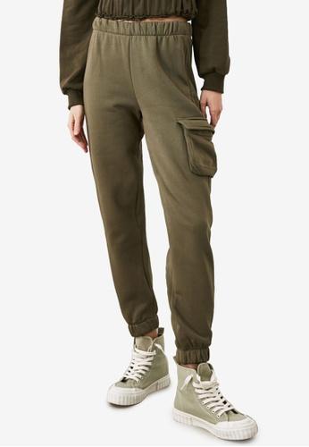 Trendyol green Pocket Knitted Sweatpants 104DDAAA0D39F3GS_1
