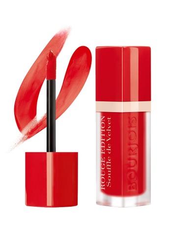 Bourjois red Bourjois Souffle de Velvet Lipstick #02 Coquelic'oh! BO885BE74TXDSG_1