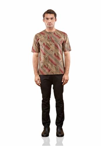 TUSCA red Adiwangsa Batik Shirt 99AC6AA1DFFEA3GS_1
